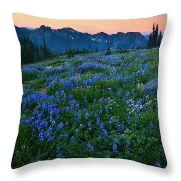 Tatoosh Sunrise Throw Pillow by Mike  Dawson