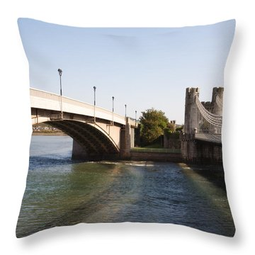 Telford Suspension Bridge Throw Pillow