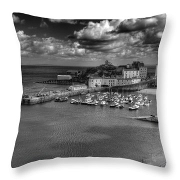 Throw Pillow featuring the photograph Tenby Harbour by Steve Purnell