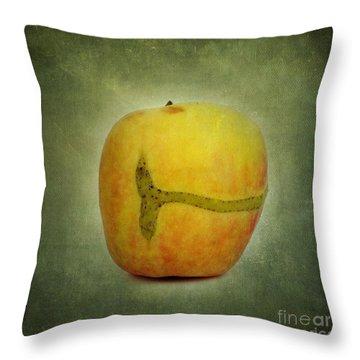 Textured Apple Throw Pillow by Bernard Jaubert