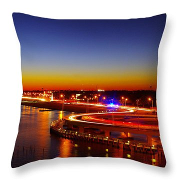 Throw Pillow featuring the photograph The Beauty Of The Night by Brian Wright