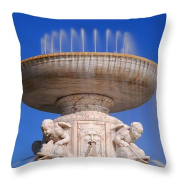 Throw Pillow featuring the photograph The Belle Isle Scott Fountain by Gordon Dean II