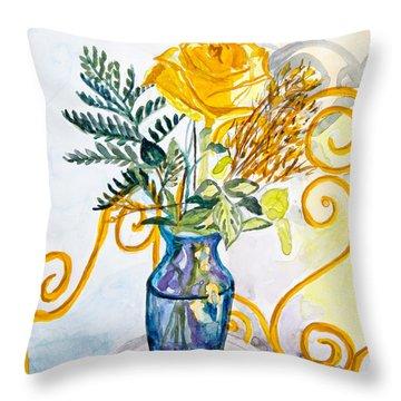 The Blue Vase Throw Pillow