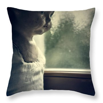 The Doll Throw Pillow by Joana Kruse