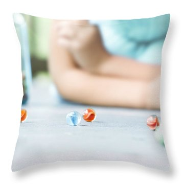 The Game Throw Pillow by Stephanie Frey