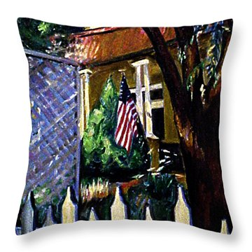 The Grant House Throw Pillow by Karen Francis