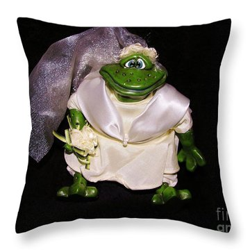 Throw Pillow featuring the photograph The Green Bride by Sherman Perry