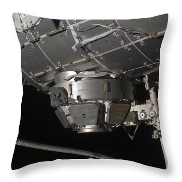 The International Space Stations Throw Pillow by Stocktrek Images