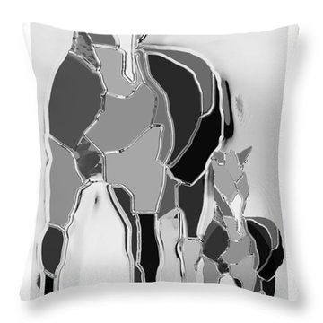 The Luck Horse And Foal Throw Pillow