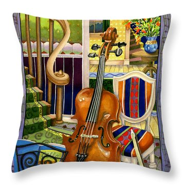 Music Stands Throw Pillows