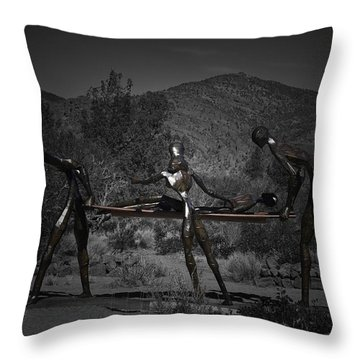 Throw Pillow featuring the photograph The Nurses by Betty Depee