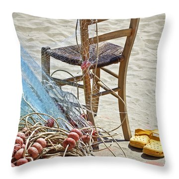 The Place Of The Fisherman Throw Pillow by Joana Kruse