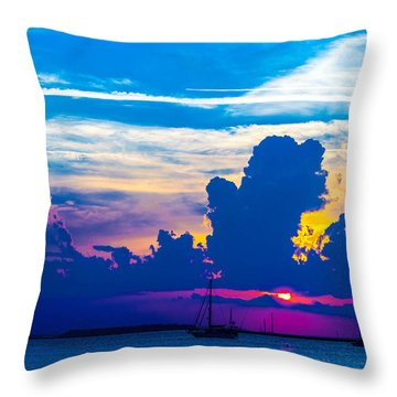 The Purple Sunset Throw Pillow