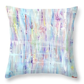The Sounds Of Rain Throw Pillow by Shana Rowe Jackson