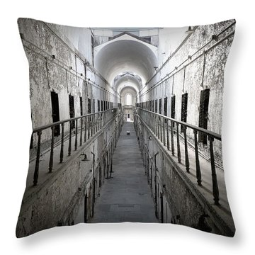 The Walk Throw Pillow by Richard Reeve