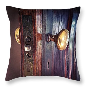 The Way In Throw Pillow by Michelle Calkins