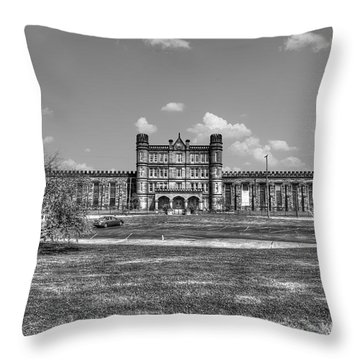 The West Virginia State Penitentiary Front Throw Pillow by Dan Friend