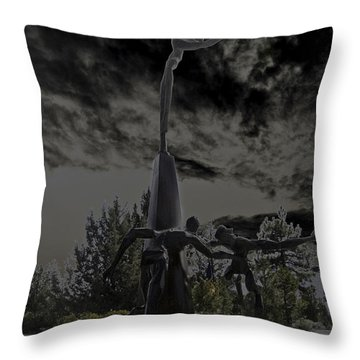 Throw Pillow featuring the photograph The Why Group  by Larry Depee