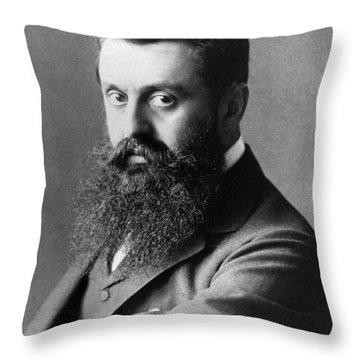 Theodor Herzl (1860-1904) Throw Pillow by Granger