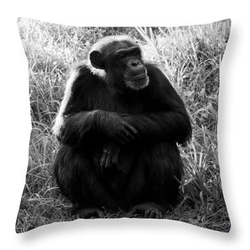 Thinking Throw Pillow by David Lee Thompson