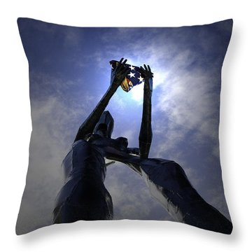 Throw Pillow featuring the photograph Those Left Behind  by Betty Depee
