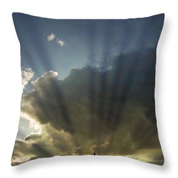 Three Crosses, West Yorkshire, England Throw Pillow by John Short