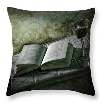 Time To Read Throw Pillow by Joana Kruse