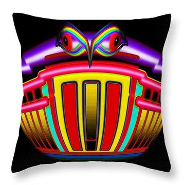 Tin Bank Throw Pillow by Charles Stuart