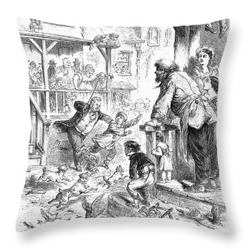 Tom, Tom, The Pipers Son Throw Pillow by Granger