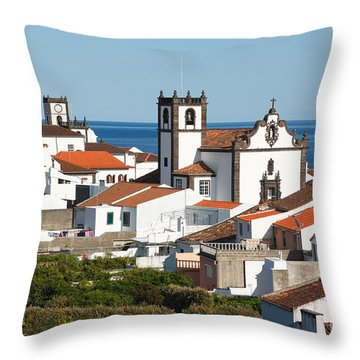 Town By The Sea Throw Pillow by Gaspar Avila