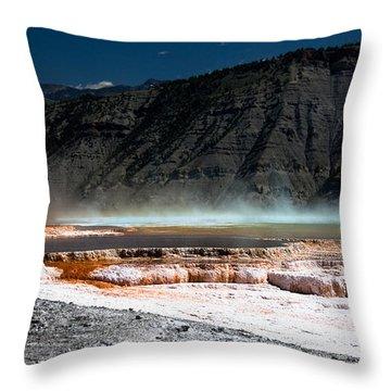 Travertine Terraces Throw Pillow by Ralf Kaiser