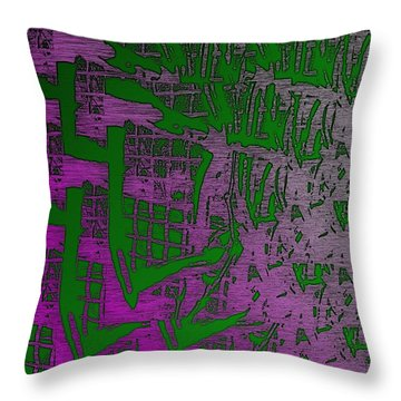 Trellis In The Mist Throw Pillow by Tim Allen
