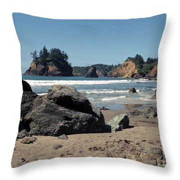 Throw Pillow featuring the photograph Trinidad Beach by Sharon Elliott