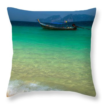 Tropical Paradise Throw Pillow by Adrian Evans