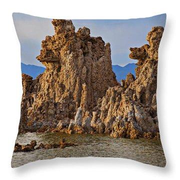 Tufa Mono Lake California Throw Pillow by Garry Gay