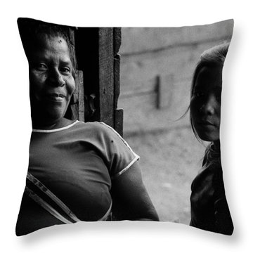 Two Generations Throw Pillow by Michael Mogensen