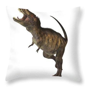 Tyrannosaurus Rex Throw Pillow by Corey Ford