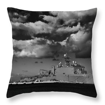 Uss Fort Mchenry Throw Pillow