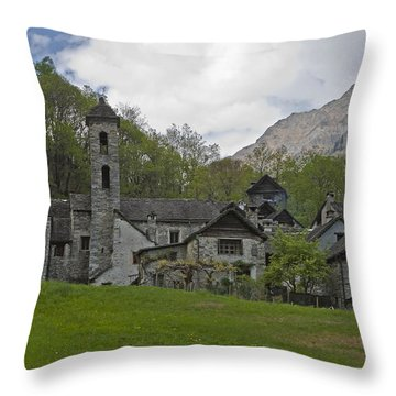 Valle Bavona - Ticino Throw Pillow by Joana Kruse