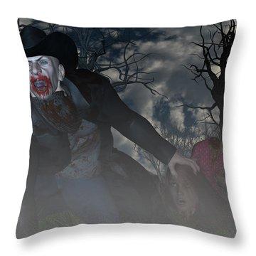 Vampire Cowboy Throw Pillow