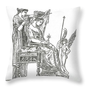 Venus, Roman Goddess Of Love Throw Pillow by Photo Researchers