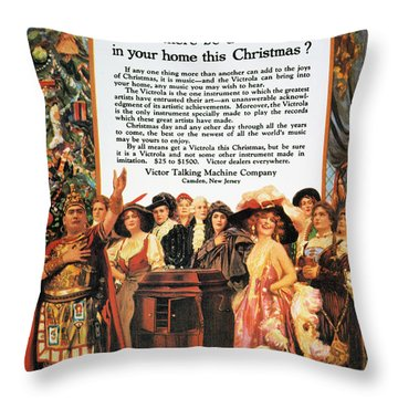 Victrola Advertisement Throw Pillow by Granger
