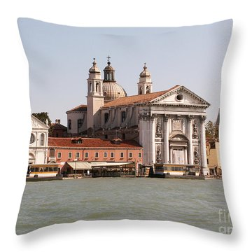 View On Venice Throw Pillow by Evgeny Pisarev