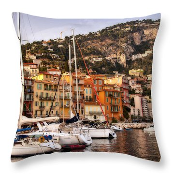 Throw Pillow featuring the photograph Villefranche-sur-mer  by Steven Sparks
