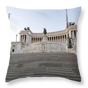 Vittoriano Monument To Victor Emmanuel II. Rome Throw Pillow by Bernard Jaubert