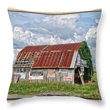 Throw Pillow featuring the photograph Vote For Me I by Debbie Portwood