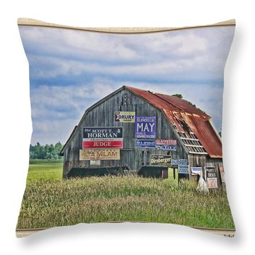 Throw Pillow featuring the photograph Vote For Me II by Debbie Portwood