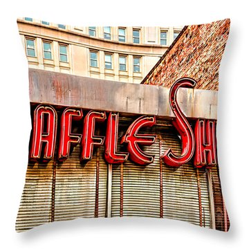 Waffle Shop Throw Pillow by Christopher Holmes