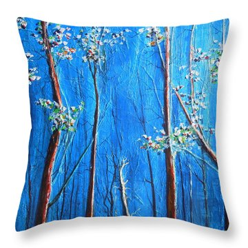 Throw Pillow featuring the painting Waiting by Dan Whittemore