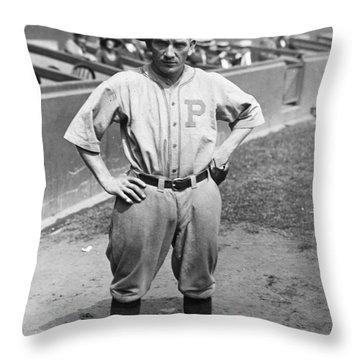 Walter Rabbit Maranville Throw Pillow by Granger
